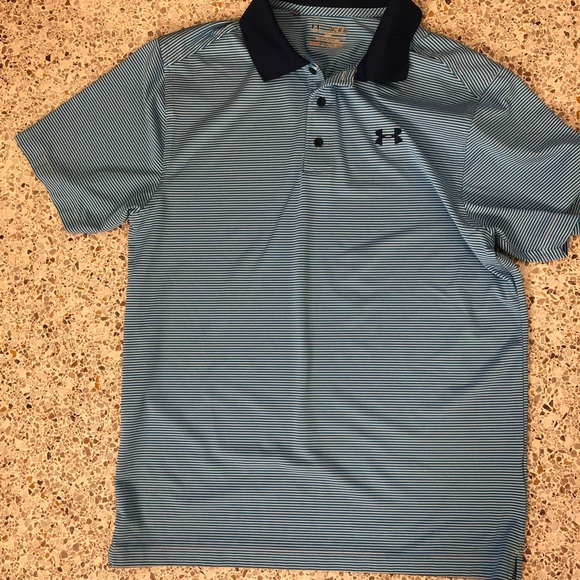 10798246 Men's under armour striped quick dry polo